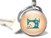 Sewing Machine Keyring, Gift for Sewer, Vintage Sewing Machines, Vintage Machines Keychain