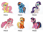 My Little Pony Horse Embroidered Iron/sew on Patch Cloth Applique Set of 6