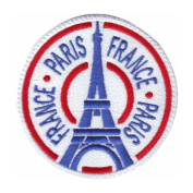 Paris France (D) Embroidered Sew on Patch