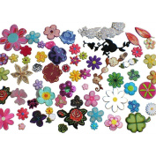 30pcs Flower Embroidery Patches Iron On Appliques