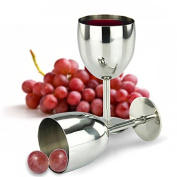 My Stainless Wine Glass | 2 Pcs 150ml Wine Glass with Durable Shatterproof Dishwasher Safe Stainless Steel Material for Chilled Wine Pleasure Outdoor Camping | Elegant Shape for Daily and Formal Use