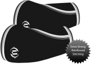 Premium Elbow Sleeves (Pair) 5mm Neoprene ~ Compression & Support for Crossfit, Weightlifting, Powerlifting, Tennis, Basketball, Volleyball... For Both Men & Women