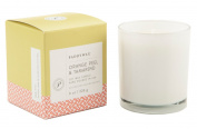 Paddywax Candles Happy Collection Glass Candle with Inspirational Quote, 240ml, Orange Peel and Tamarind