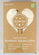 Ecocie 100% Natural Bamboo Baby Washcloths, Organic Extra Soft, Reusable Baby Towel, Unbleached, Chemicals & Dyes FREE, Just The Right Touch for Sensitive Baby Skin, 6 Pack 25cm x 25cm
