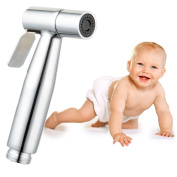 """Cloth Nappy Toilet Sprayer Kit High Powered Hand Held Bidet Shattaf Brass Chrom Stainless Steel Hose T-Valve (7/8*) By """"Baby-Touch"""""""