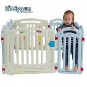 Kiddygem M7 extra tall baby playpen (10 panels) - Blue