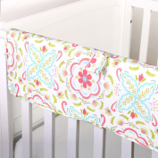 Gia Floral Crib Rail Guard by The Peanut Shell