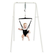 Jolly Jumper® 108 Free Standing Exerciser with Portable Stand in Black, Gives Your Baby Complete Freedom Of Moment