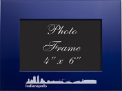 Indianapolis, Indiana-4x6 Brushed Metal Picture Frame-Blue