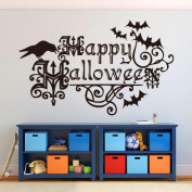 Fullkang Halloween Letters Wall Sticker Window Home Decoration Decal Decor 57cm*35cm