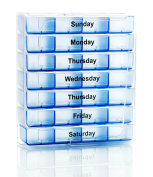 Survive Vitamins 7 Day Pill Organiser 4 Times a Day Pill Box in Translucent Blue Colour Pill Case