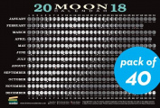 2018 Moon Calendar Card (40-Pack)