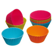 Cupcake Carriers,FTXJ Kitchen Craft Colourworks Silicone Cupcake Cases Cupcake Wrappers Cake Pan , Pack of 12