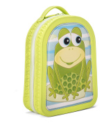 Green Frog Friends Lunch Bag, School Bag, Backpack, For Toddlers and Little Kids Boys and Girls, Cute Frog Design