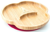 Baby Suction Plate, Suction Stay Put Feeding Plate, Natural Bamboo