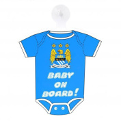 Official Manchester City FC Car Baby On Board Sign