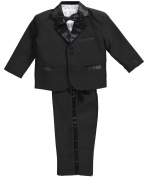 Kaifer Baby Boys' 5-Piece Tuxedo - black, 24 months