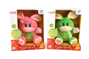 Globo Toys Globo - 5165 2 Assorted Vitamina_G Try-Me Bunny Plush Toy in Italian with Music and Light