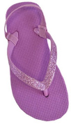 Girls / Kids / Toddlers Glitter Strap Flip Flops with Elasticated Heel Strap