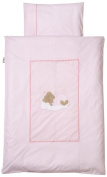 Easy Baby 415 Bed Linen 80 x 80 cm with hook and loop Sleeping Bear Pink