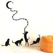 Xinantime DIY Removable Mural Wallpaper Cat Wall Sticker