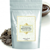 Ghassoul (rhassoul) Authentic Clay Atlas 250 g Exquisite spa quality mineral-rich clay from Morocco - Face, Hair, Body Detox