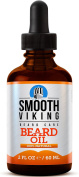 Beard Oil for Men - Use With Balm and Conditioner for the Best Facial Hair Grooming Kit - Relieves Itching for Easy Beard Growth - With Argan Oil, Jojoba Oil, Vitamin E and More - 60ml - Smooth Viking