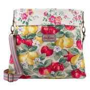 Cath Kidston Cotton Reversible Folded Messenger Bag Crossbody 16SS Apples and Pears Colour Cream