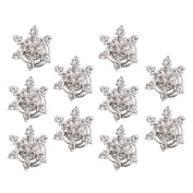 Contever® 10 Pcs Clear Crystal Snowflake Swirl Hair Twists Coils Spirals Hair Pin Clip Accessories For Hair Style