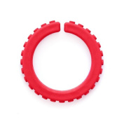 ARK's Brick Textured Chew Bracelet Made in the USA Chewelry (Red - Soft for Mild Chewing) - Large
