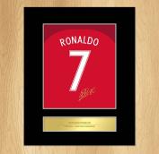 Cristiano Ronaldo Portugal Euro 2016 Signed Mounted Artistic Photo Display