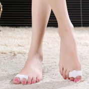 HealthAndYoga(TM) Silicone 2 Loop Toe-Separator | Relief for Overlapping Toes | 1 Pair