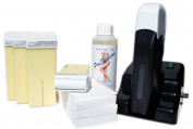 EPILWAX S.A.S - SERIE BLACK STYLE - Kit D'Hair removal Modular Full / complete To La Wax Disposable White, with Wheel Grand Model for the legs, armpits, and The body