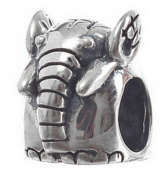 Elephant Women's Charm Bead suitable for Pandora Jewellery or similar 100% 925 Sterling Silver
