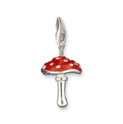 Cameleon-Shop Silver-Plated Red Charm Mushroom