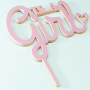 Its a Girl Cake Topper Baby Shower Decoration Birthday Christening