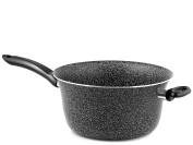 Home Polenta Pot Non-stick with Handle, Stone, Black/Silver, 26 cm