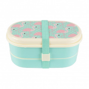 Sass & Belle Flamingo Tropical Bento Box Lunchbox Lunch Dinner Food Storage Gift
