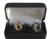 The Big Birthday Milestone Number Cufflinks in 3d Chrome choose from 18 to 60