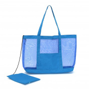 Almondcy Mesh Beach Tote Bag Stay Away From Sand for the Beach-Also good for Pool & Boating