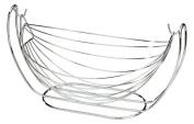 Swinging Wire Fruit Vegetable Bowl Chrome Finish Basket Dining Table