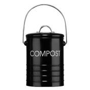 Black Compost Bins With Handle Garden Bucket Bin Waste Rubbish Galvanised Steel