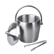 IMEEA® Heavy Duty Double Walls Stainless Steel Ice Bucket with Tongs, 1180ml/ 1.2L