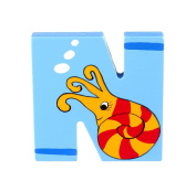 Orange Tree Toys : Wooden Letter N for Nautilus