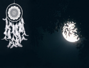 Ailiebhaus Large Dream Catcher Handmade Hanging Dreamcatcher for House Car Decoration White
