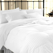 Sapphire Collection 100% Stripe TC400 Egyptian Cotton White Duvet Cover Pillow Cases All Sizes