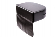 CHILD BOOSTER SEAT FOR BARBER SHOPS & HAIR SALONS, QUALITY BUILT BLACK SYNTHETIC LEATHER, FREE FAST UK DELIVERY