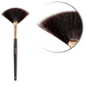 Bronzer Fan Makeup Brush - B6 Vegan Professional Durable Synthetic Hair Fibres Shimmering Brush - Perfect to Easily Apply Mineral Bronzer Shimmer Powder