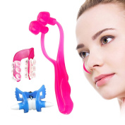 Ckeyin ® 3set Nose Up Shaping Lifting Clip + Nose Bridge Straightening Beauty Clip + Nose Massage Tools