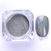 1g/Box Holographic Laser Powder Nail Glitter Rainbow Pigment Manicure Chrome Pigments